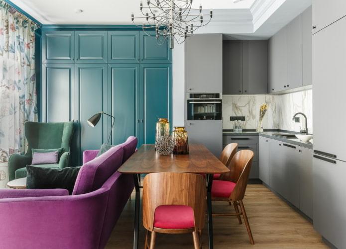 угловой кухонный гарнитур в интерьере