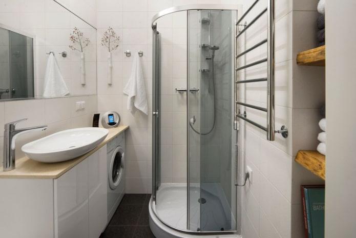 ванная комната в интерьере квартиры-студии
