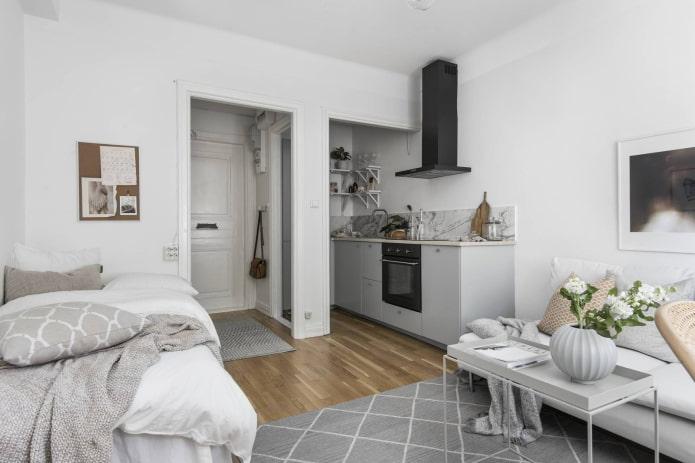 планировка интерьера квартиры-студии