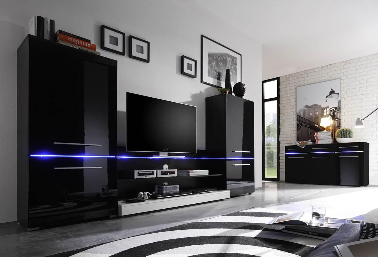 Модульные стенки в гостиную хай тек фото