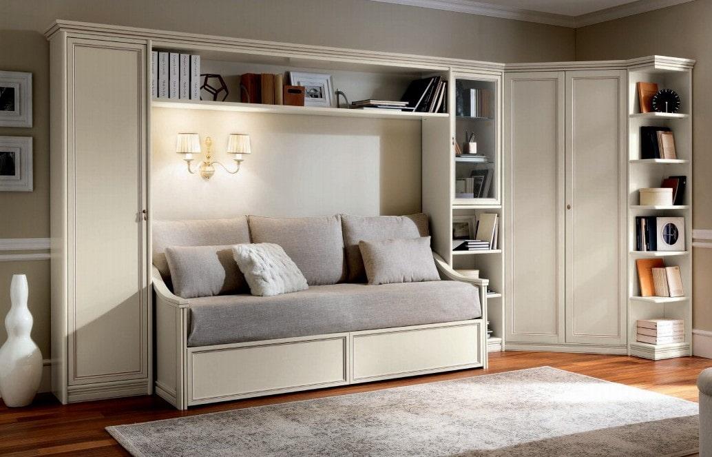 Современные стенки горки в гостиную — фото разных моделей | 663x1034