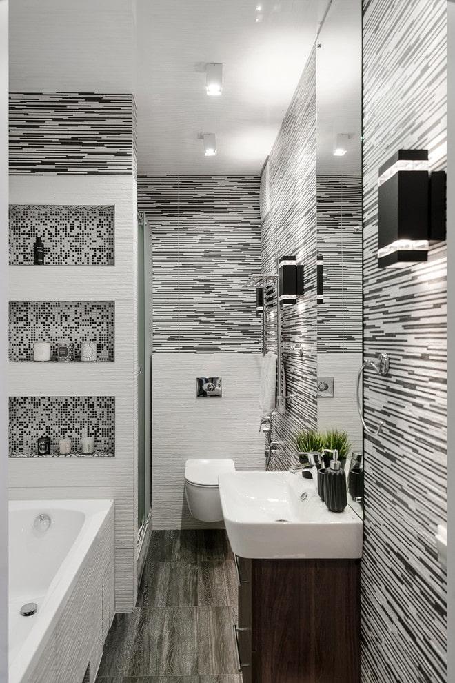 деревянная тумба в ванной