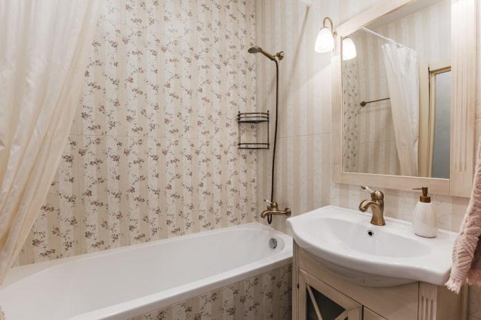 Прованская плитка в современной ванной