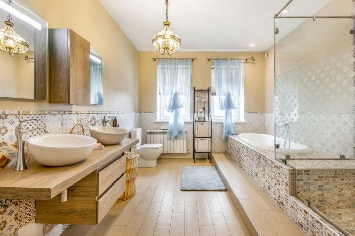 Плитка пэчворк в ванной