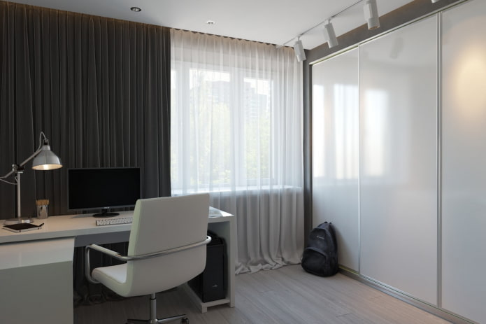 интерьер кабинета в квартире 50 квадратов