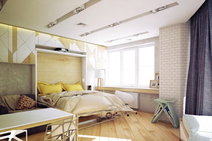 интерьер однокомнатной квартиры 50 квадратов