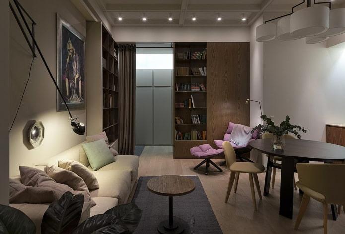 интерьер двухкомнатной квартиры 50 квадратов