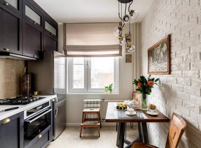 интерьер кухни в квартире 50 квадратов