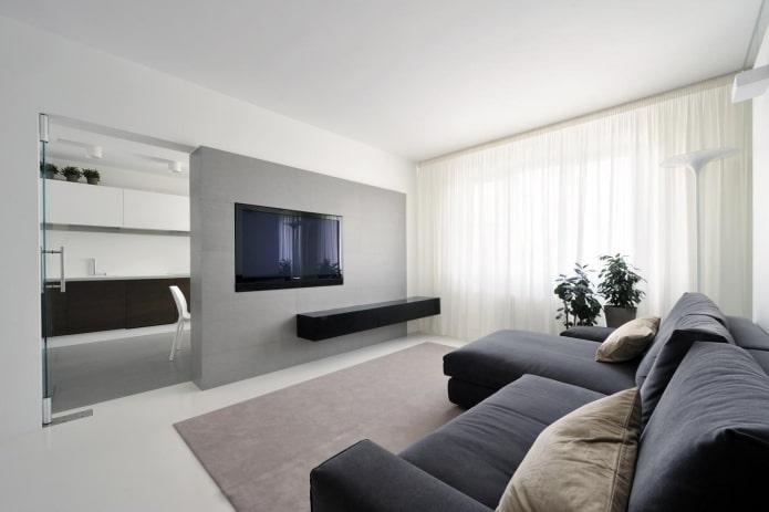 интерьер квартиры 50 квадратов в стиле минимализм