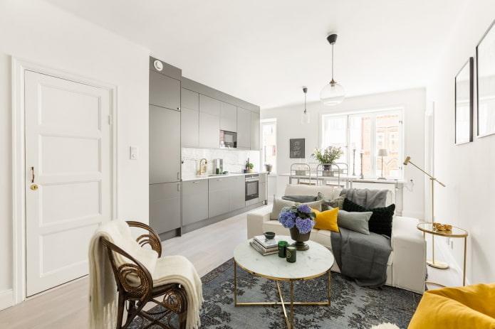 интерьер квартиры 50 квадратов в скандинавском стиле