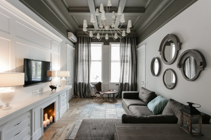 интерьер квартиры 50 квадратов в стиле современная классика