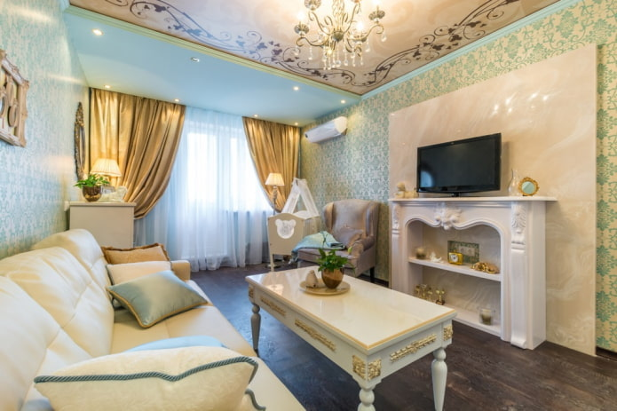 интерьер квартиры 50 квадратов в классическом стиле