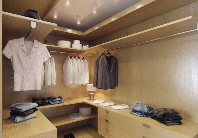 интерьер гардеробной в квартире 50 квадратов