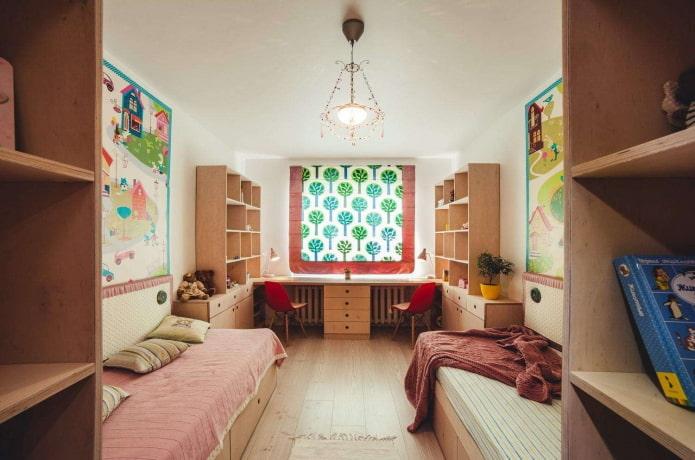 интерьер детской в квартире 50 квадратов