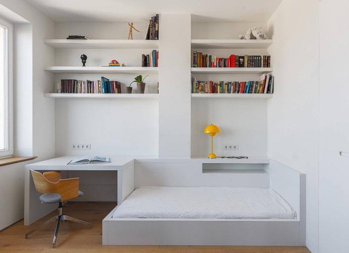 спальня для мальчика подростка в стиле минимализм