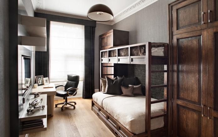 дизайн спальни для двух мальчиков подростков