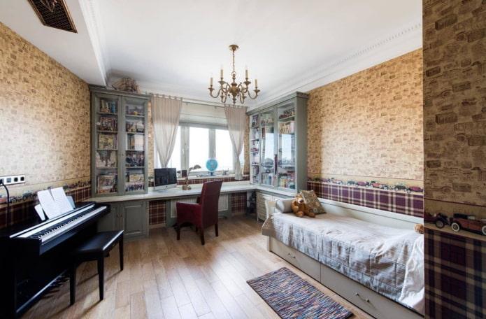 спальня для мальчика подростка в классическом стиле
