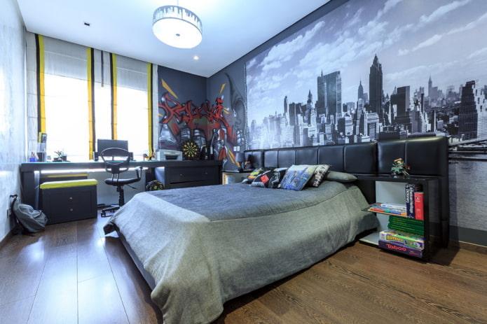 дизайн большой спальни для мальчика подростка