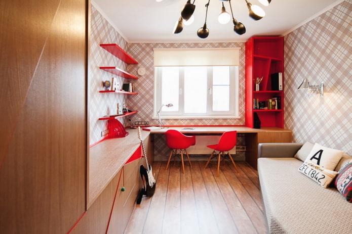 дизайн маленькой спальни для мальчика подростка