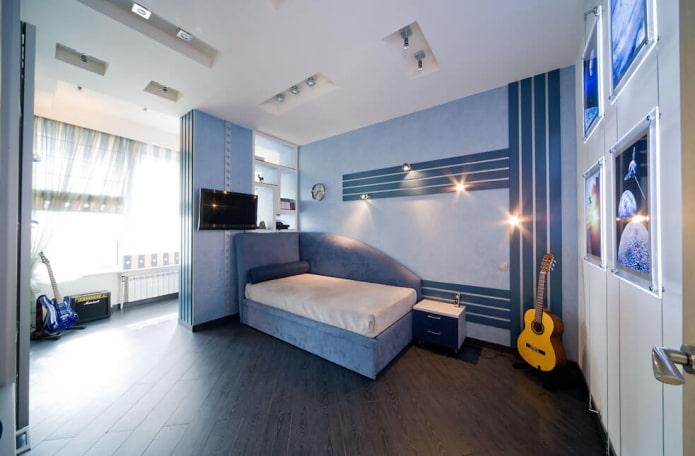 цветовая гамма спальни для мальчика подростка