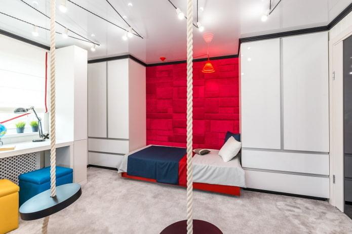 спальня для мальчика подростка в стиле хай-тек