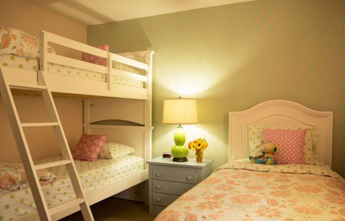 Детская комната для троих детей: 50 фото в интерьере, идеи дизайна