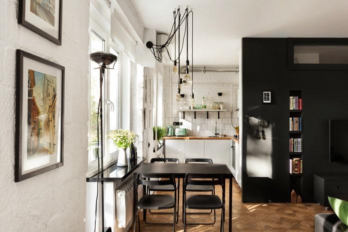 Кухня-гостиная в студии