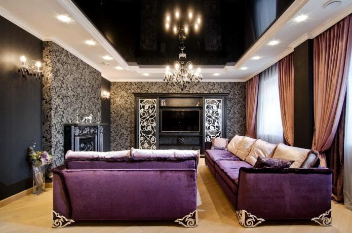 Узоры на обоях и мебели