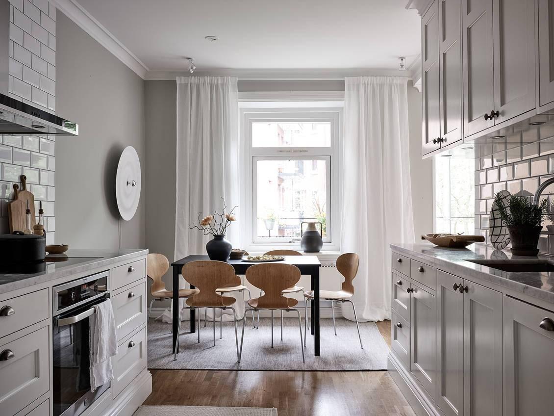 Как выбрать шторы для маленькой кухни