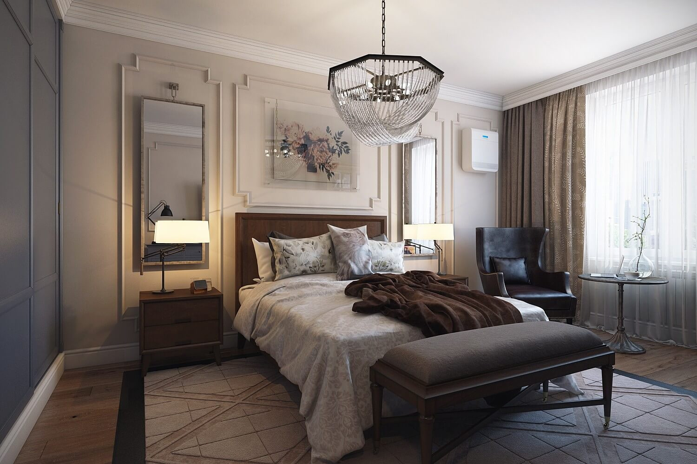 спальня в стиле неоклассика фото интерьер