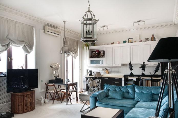 декорирование интерьера в стиле неоклассика
