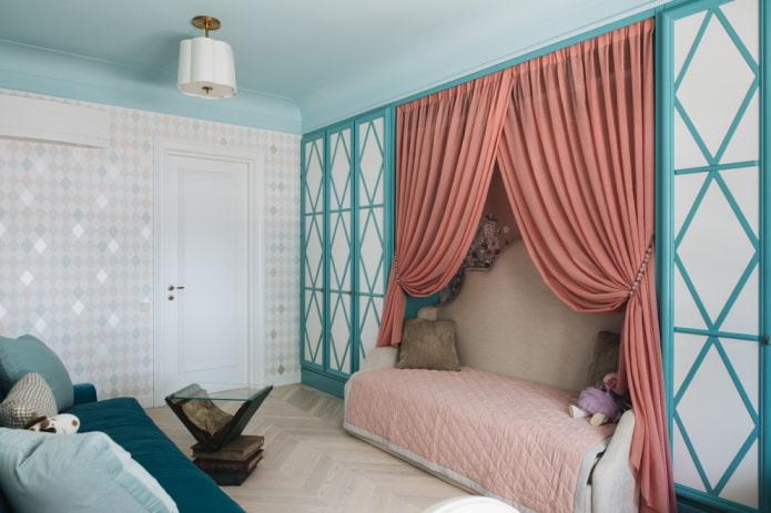 текстильное оформление интерьера в стиле неоклассика