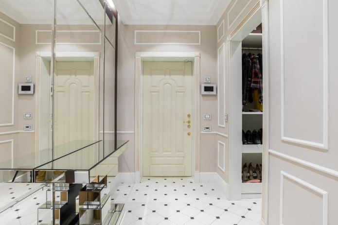 дизайн дверей в интерьере в стиле неоклассика