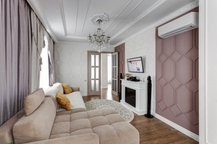 цветовое оформление интерьера в стиле неоклассика