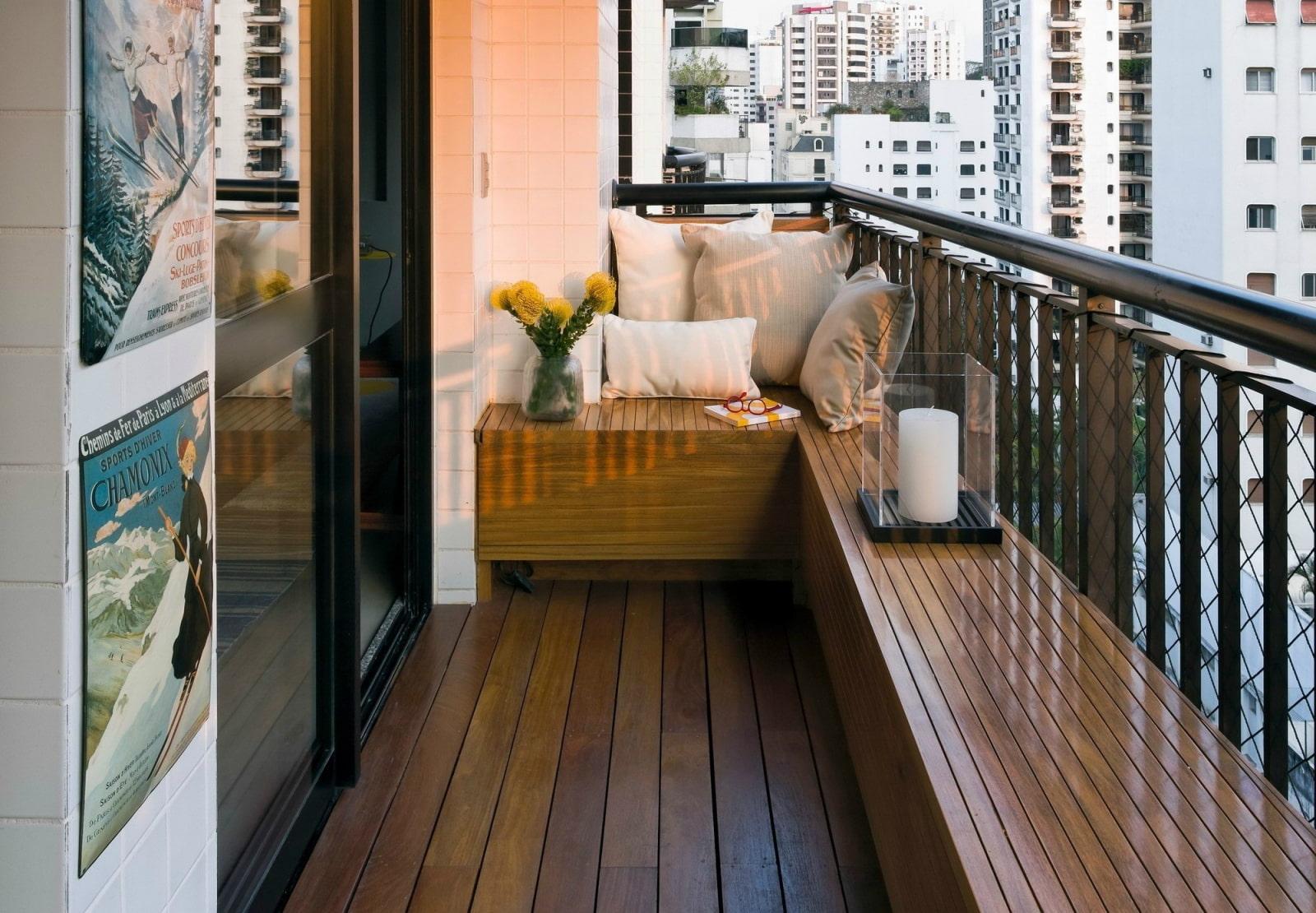 Отделка балкона открытого фото
