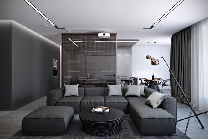 Серый цвет в интерьере: 90 фото, примеры дизайна