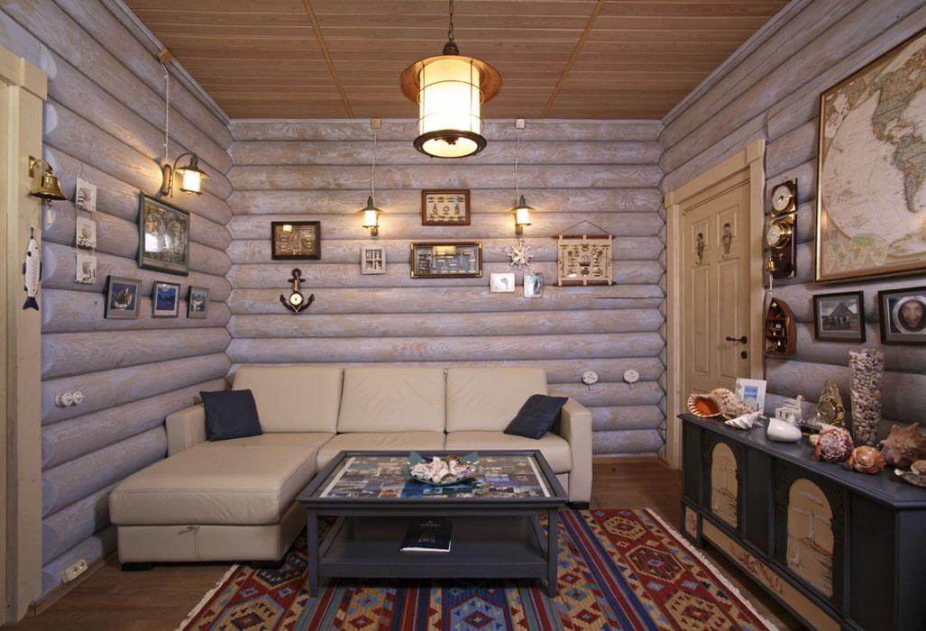 видел варианты окраски бревенчатого дома внутри фото тонера здесь