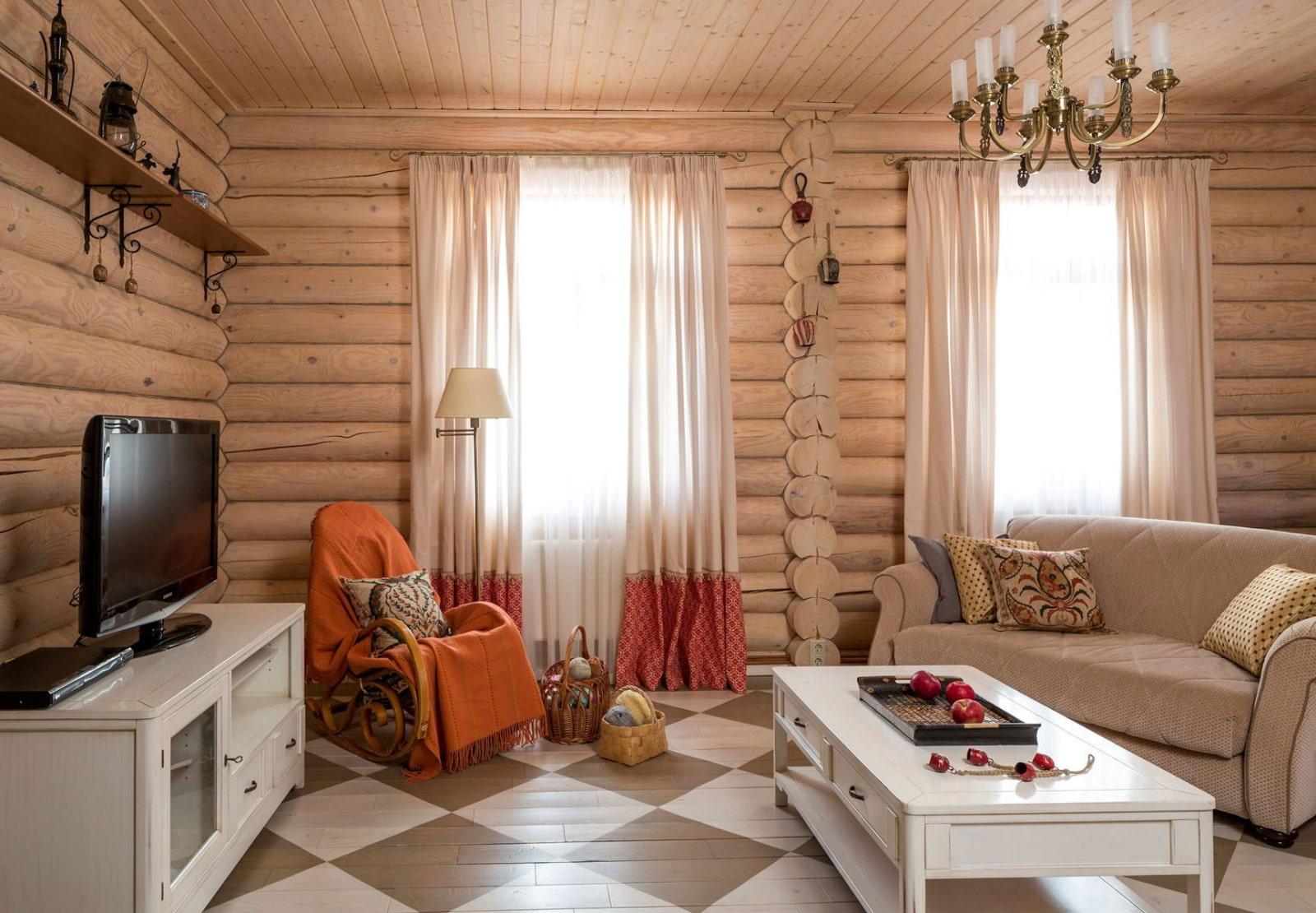 внутренняя отделка комнаты в деревянном доме фото известно, какое