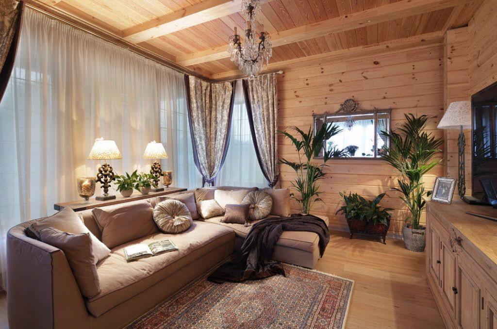 26 фото интерьеров деревянного дома внутри