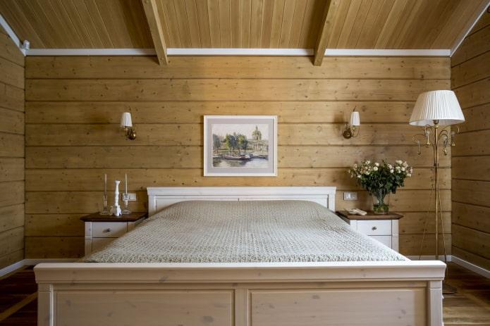 мебель и декор в интерьере брусового дома