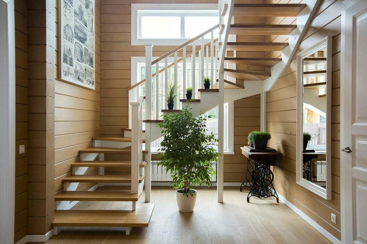 лестницы на второй в частном доме фото тех