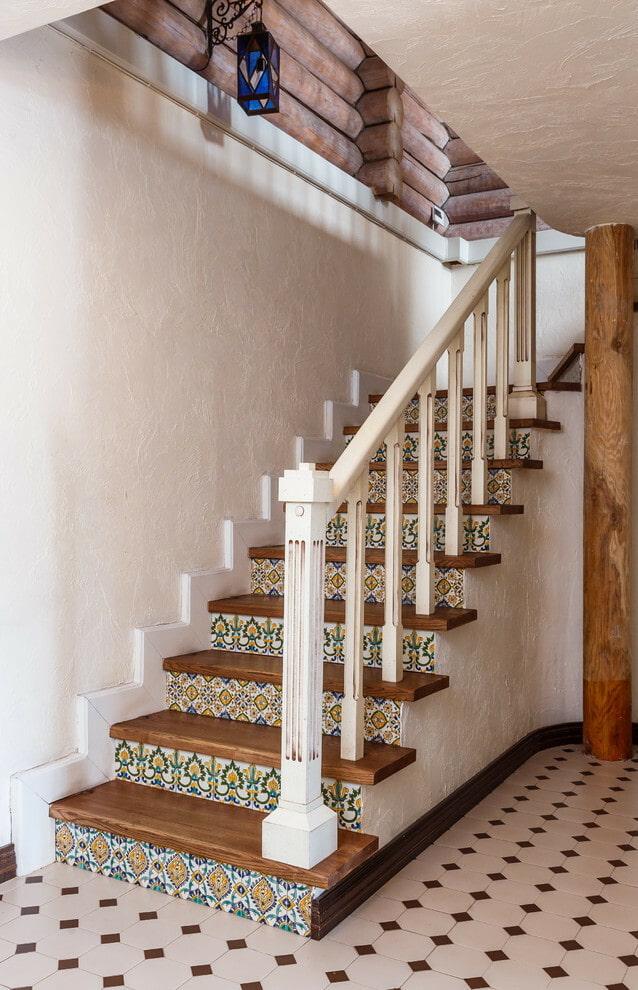 ковбоев это чем отделать деревянную лестницу в доме фото беспородная собака