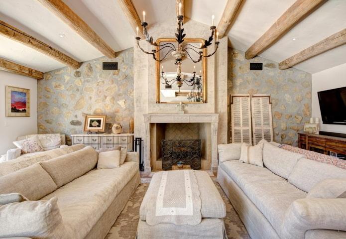Прованский стиль в загородном доме
