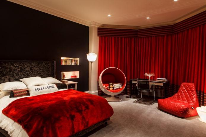 цветовое сочетание в интерьере спальни