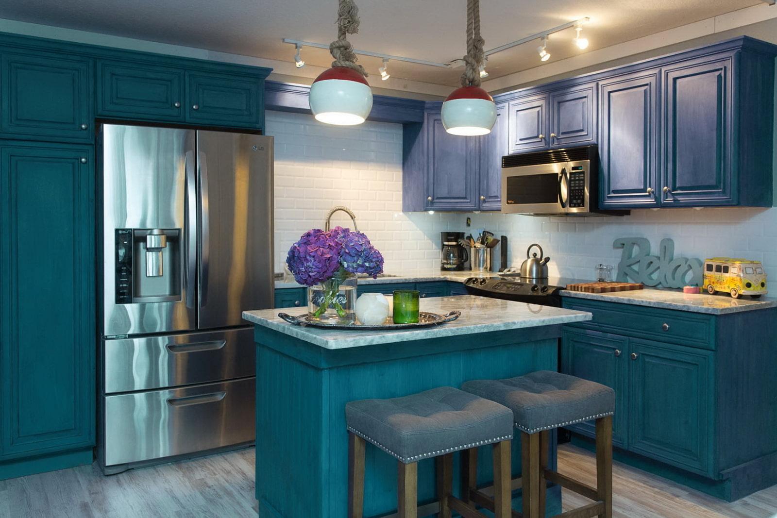 должно дизайн кухни в синем цвете фото пятках часто