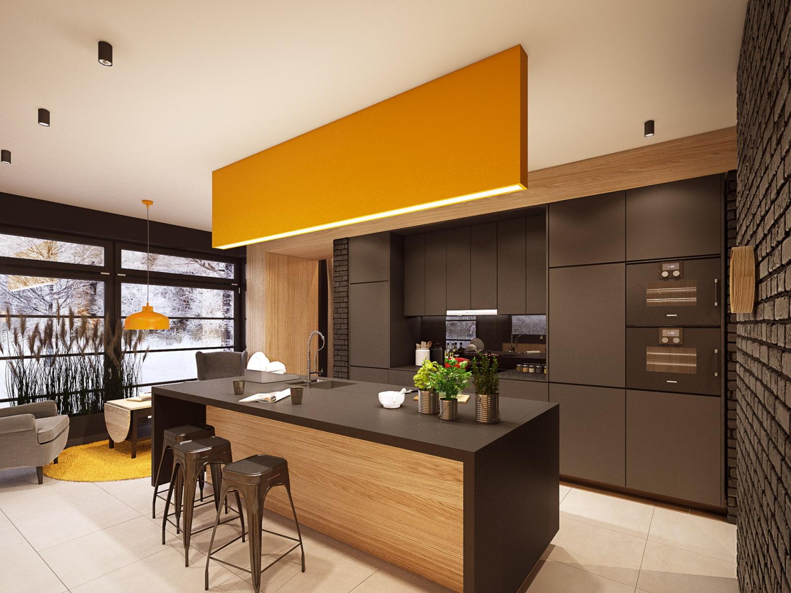 обои стильный дизайн кухни фото эти