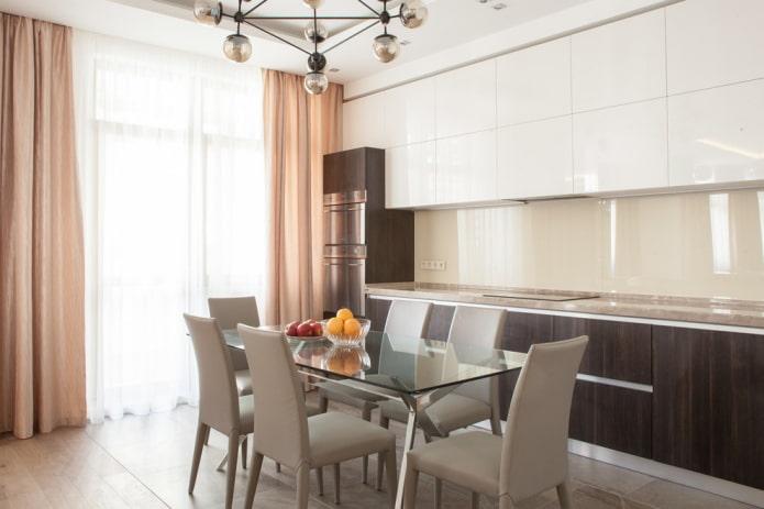 текстиль в интерьере кухни в стилистике модерн