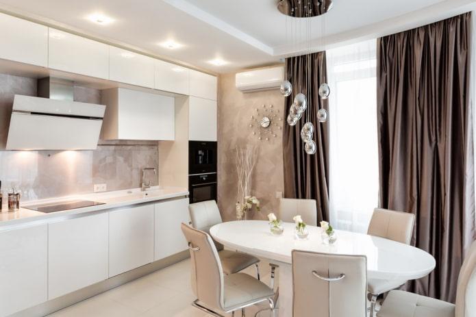 цветовая палитра кухни в стилистике модерн