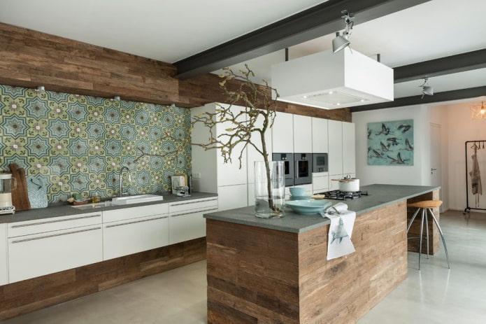 декор в интерьере кухни в стилистике модерн