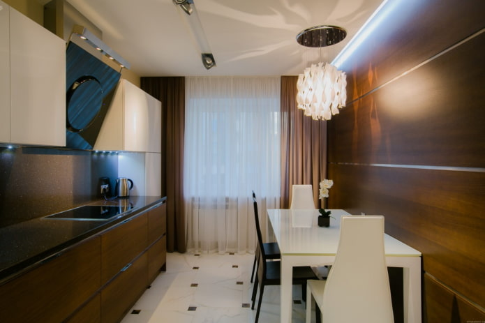 отделка кухни в стилистике модерн
